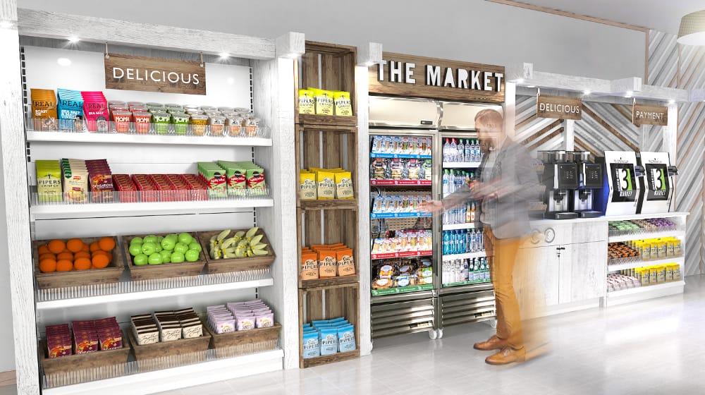 Micro Market Fresh Fruit Dispensing